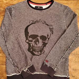 David Bitton Skull Sweater